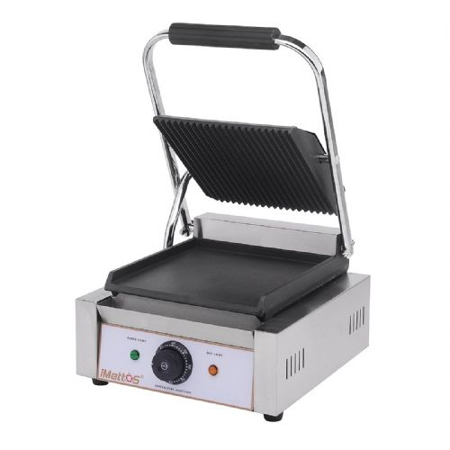Contact Grill Single / Ribbed Top & Smooth Bottom - PG-SC